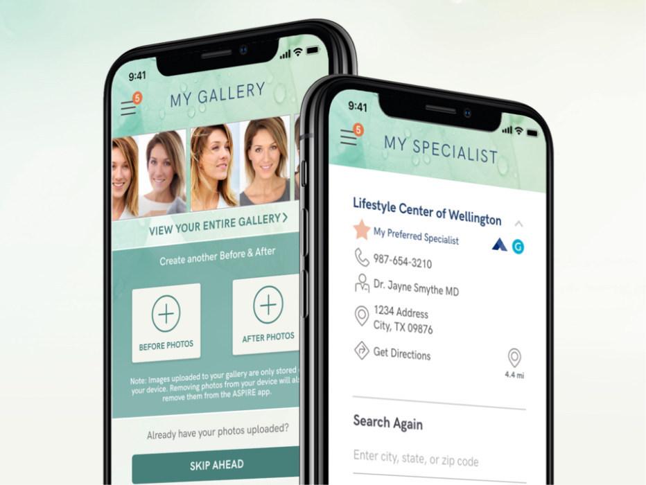 Aspire mobile app screenshot